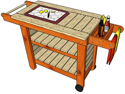 grill table plans woodworking files storage grill table plans free