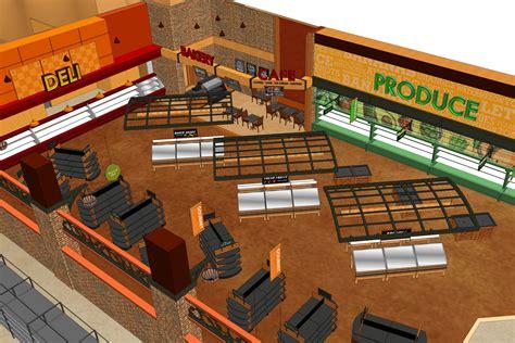 grocery store floor plan maxi foods supermarket design by i 5 design