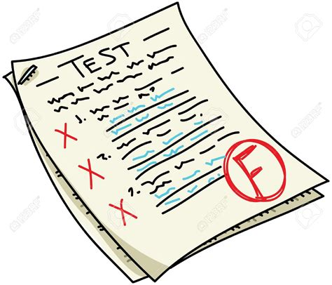 Fail clipart exam result - Pencil and in color fail ... A-test Paper