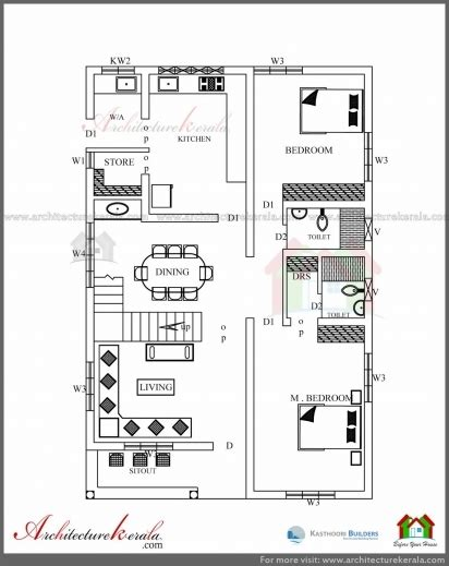 2500 sq ft floor plans architectural drawing of simple residential building