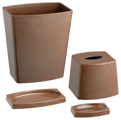 chocolate brown bathroom accessories kraftware my earth 4 bathroom set chocolate brown