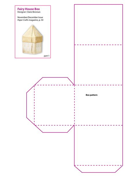 free paper craft patterns paper house patterns