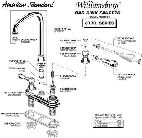 kitchen sink faucet parts diagram plumbingwarehouse american standard bathroom faucet