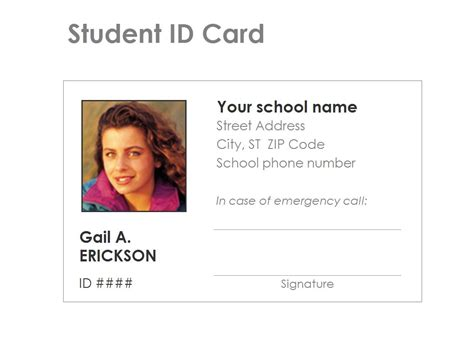 how to make school id card student identification card template