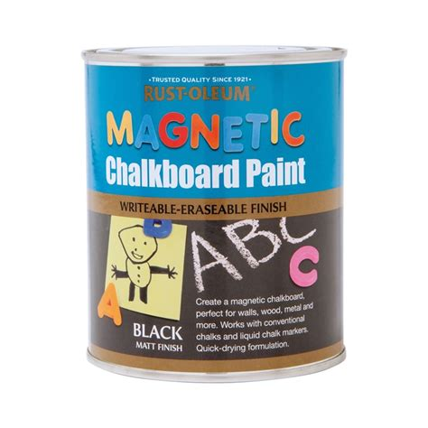 chalkboard paint magnetic rust oleum magnetic chalkboard paint 750ml at homebase co uk