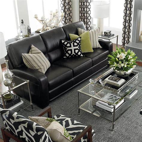 living room decor with black leather sofa 41a49cfb6e37d1370af85c3d7cf902d7 jpg