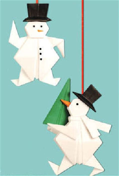 origami snowman snowman origami ornament happy holidayware