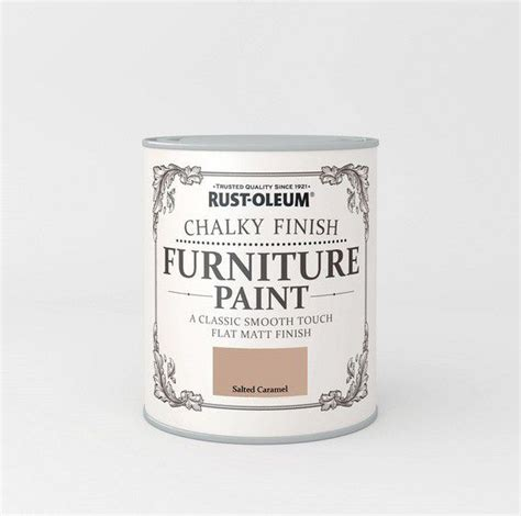chalk paint whitby rust oleum salted caramel 750ml chalky furniture paint