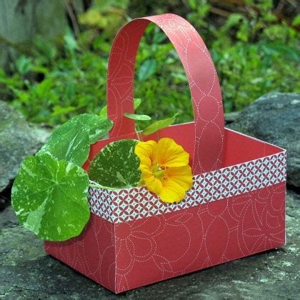 craft paper basket paper berry basket disney family