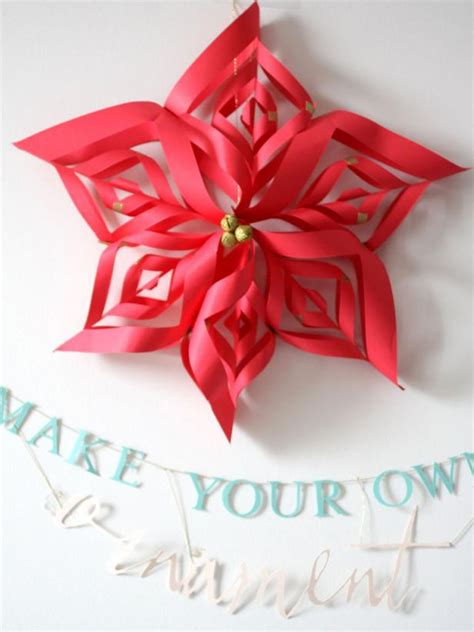 poinsettia paper craft photo page hgtv