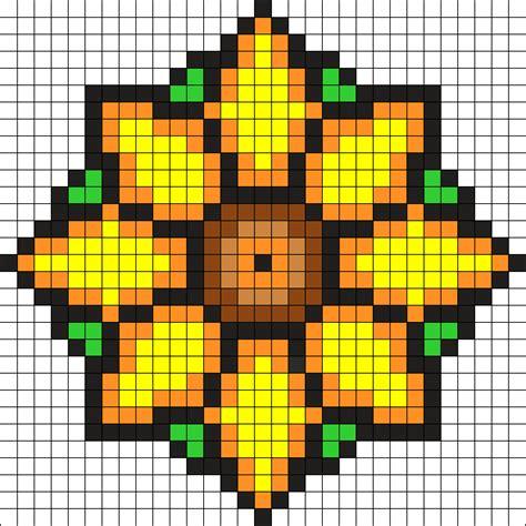 perler bead flower patterns flower perler bead pattern bead sprites misc fuse bead