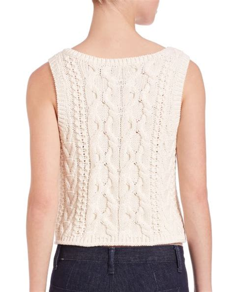 sleeveless cable knit sweater polo ralph sleeveless cable knit sweater in beige