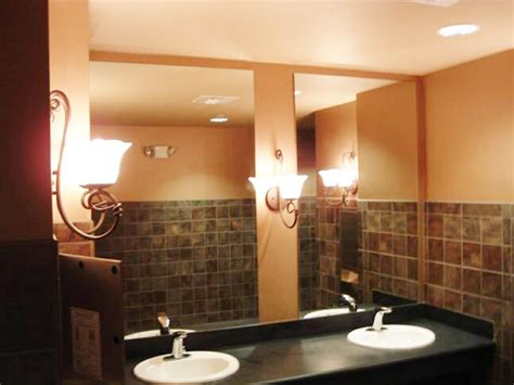 commercial bathroom mirrors gallery salt lake city glass company and window repair