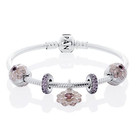 jewelry and charms pandora blooming dahlia complete bracelet cb558