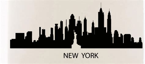 new york skyline wall sticker aliexpress buy new york skyline wall sticker new