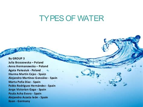 what are water types of water by group3