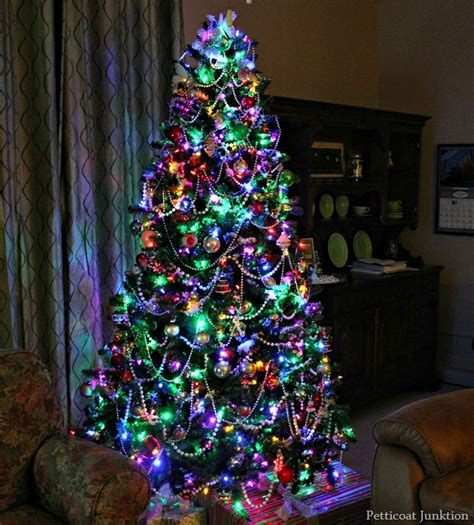 decorated trees with multicolor lights clear or multi color tree lights how about both