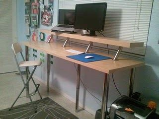 ikea standing desks design can i use a 6 foot table as the base for a