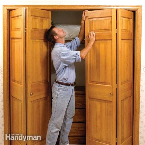 bifold closet door repair how to fix stubborn bifold closet doors the family handyman