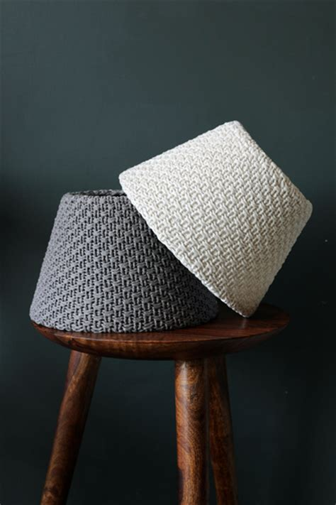knitted light shade objects of design five knitted lshades