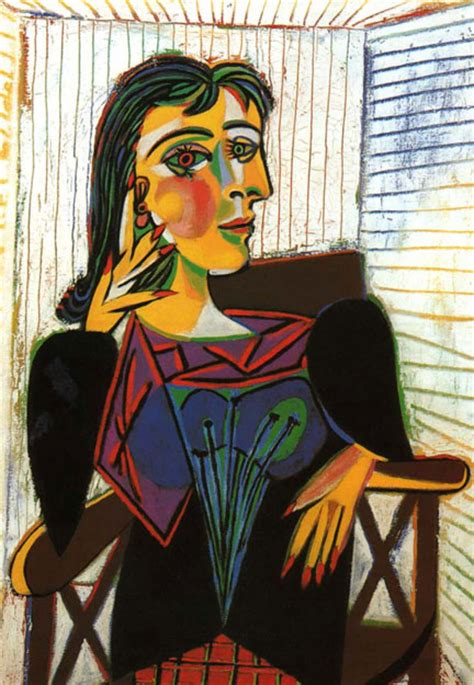 Picasso S Maar Seated Or And Profile How