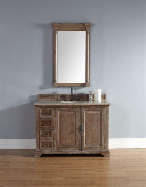 driftwood bathroom vanity 48 inch single sink bathroom vanity in driftwood finish