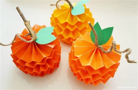 paper pumpkin crafts how to make paper pumpkins for fall diy inspired