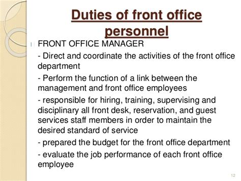 duties of front desk officer duties of a front desk officer 28 images chapter 1