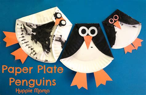 paper plate penguin craft three paper plate penguins our potluck family