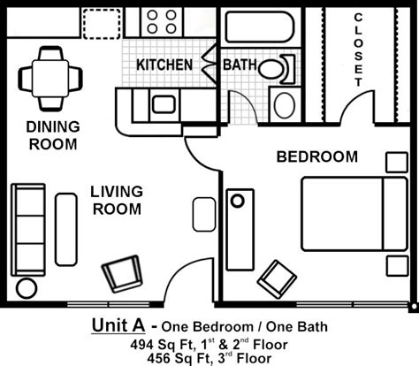 one bedroom flat floor plans 17 best ideas about one bedroom apartments on