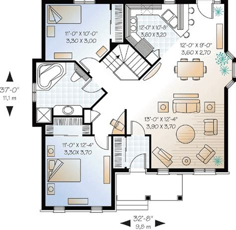 two bedroom plan design great modern style small two bedroom house plans design ideas