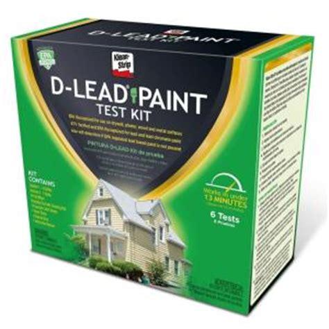 Klean D Lead Paint Test Kit Eklp64000 The Home Depot