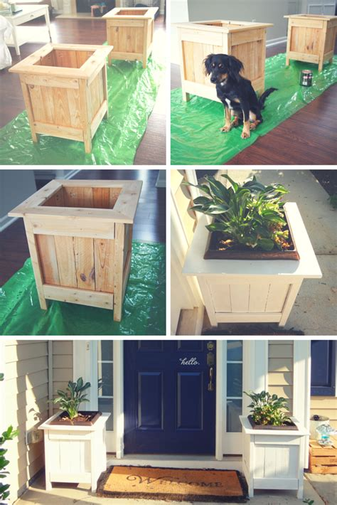 woodwork at home white diy planter boxes with pallet wood diy projects