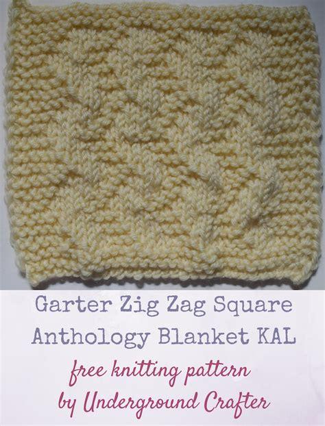 how to knit a zig zag blanket knitting pattern garter zig zag square underground crafter