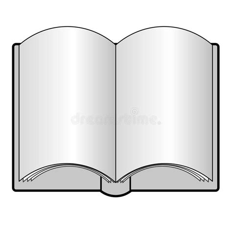 picture of an open book with blank pages an open book with blank pages royalty free stock photo
