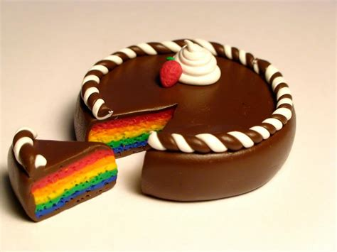 Buy Kitchen Furniture buy chocolate rainbow cake miniature on storenvy