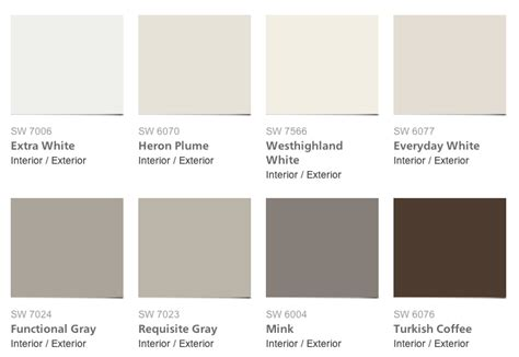 paint colors pottery barn pottery barn paint color collection for sherwin williams