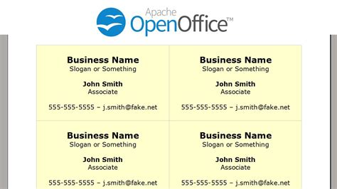 how to make business cards in openoffice printing business cards in openoffice writer