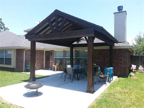 free stnading higher than roof beautiful free standing stained wood gable patio cover outdoor