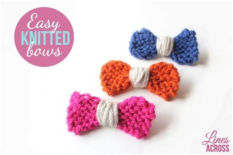 Easy Knitted Bows Lines Across