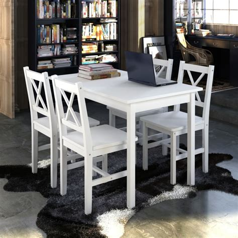 white kitchen set furniture new quality wooden dining table and 4 chairs set kitchen furniture white brown ebay