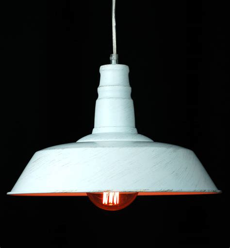 white industrial pendant light white warehouse industrial ceiling pendant light by made
