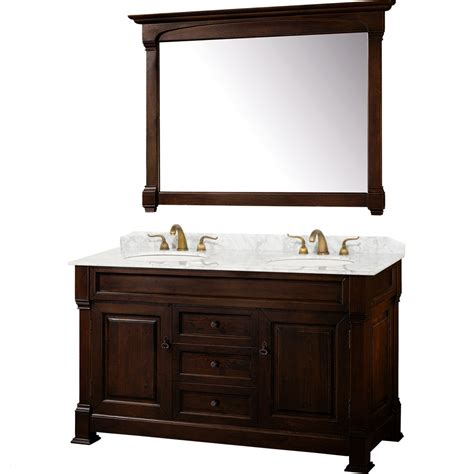 bathroom vanity 60 sink wyndham collection andover 60 inch traditional sink