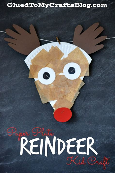 reindeer crafts for paper plate reindeer kid craft