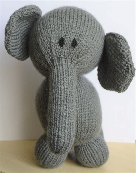 knitted elephant free pattern elephant soft knitting by post