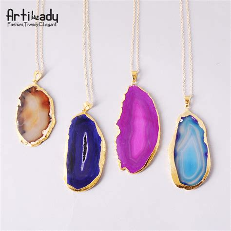 how to make agate jewelry aliexpress buy artilady 18k gold plating