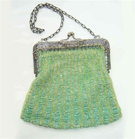 beaded bags vintage beaded purse green antique flapper by