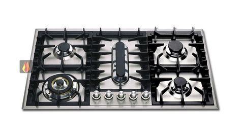 plaque de cuisson gaz 90 cm inox encastrable 5 foyers dont 1 poissonni 232 re ilve ec ilv318 mon