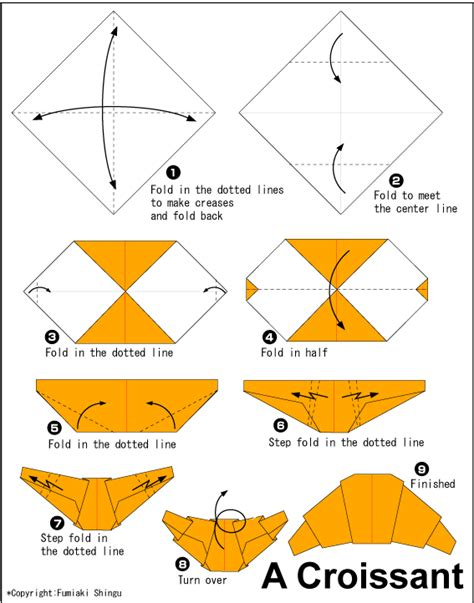 origami food croissant easy origami for