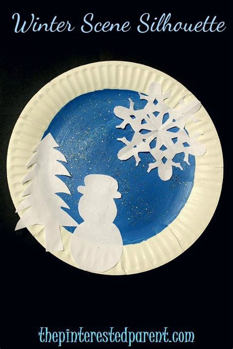 winter paper crafts paper plate winter crafts the pinterested parent